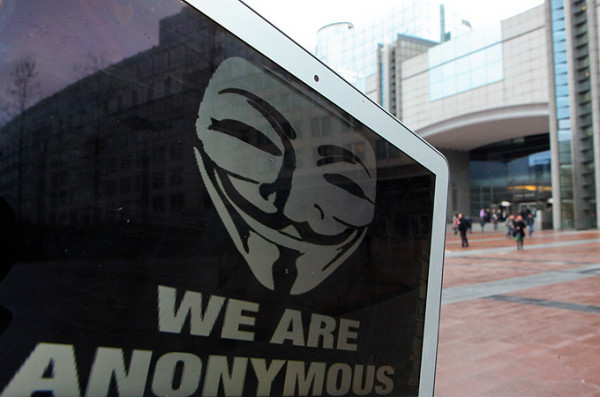Anonymous hackers used the information leaked to them to alter content of the Los Angeles Times [EPA]